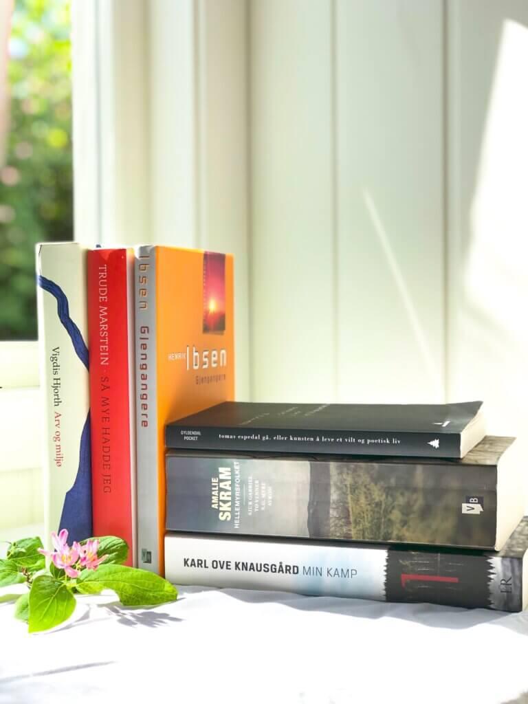 Hjorth, Trude Marstein, Henrik Ibsen, Amalie Skram, Tomas Espedal, Karl Ove Knausgård